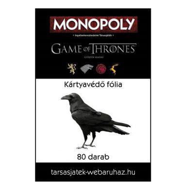 GoT Monopoly kártyavédő fólia