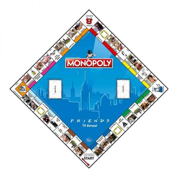 Jóbarátok Monopoly játéktábla